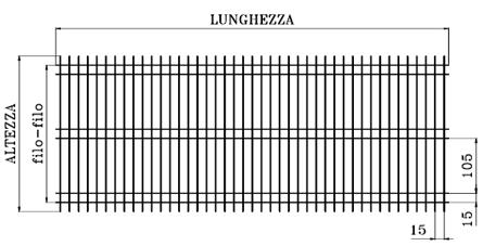Reti elettrosaldate zincate maglia TEC - Sud Ferro